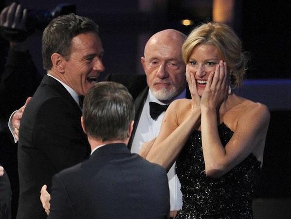 Emmys 2013 Bryan Cranston Anna Gunn