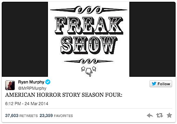 Ryan Murphy tweet