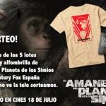 Sorteo 5 lotes de merchandising de EL AMANECER DEL PLANETA DE LOS SIMIOS (Estreno 18 de julio)